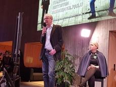 Seppo Knuuttila puhui ravinnejalanjäljen pienentämisestä.